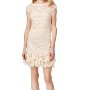 Jessica Simpson blush sequin and ruffle dress